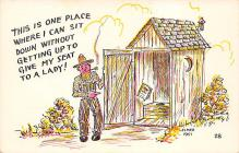 top025123 - Outhouses Post Card