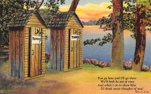 top025129 - Outhouses Post Card
