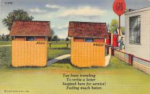 top025133 - Outhouses Post Card