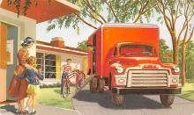 top025851 - Trucks / Buses /  Vans Post Card