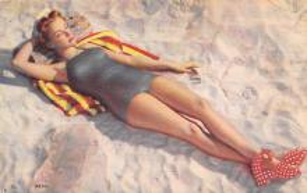 top028041 - Bathing Beauty Post Card
