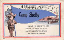 top028403 - Military Camps Post Card