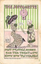 top030631 - Just Politics, Hubby Had Ter Treat Womans Rights to Vote Suffragette Vintage Postcard