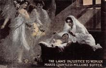 top030635 - The Laws Injustice to Woman Makes countless Millions Suffer Womans Rights to Vote Suffragette Vintage Postcard