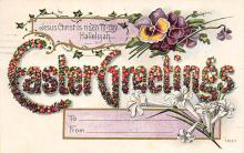 top090597 - Holiday Easter Post Card Old Vintage Antique