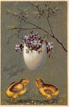 top090615 - Holiday Easter Post Card Old Vintage Antique