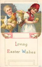 top090699 - Holiday Easter Post Card Old Vintage Antique