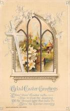 top090709 - Holiday Easter Post Card Old Vintage Antique