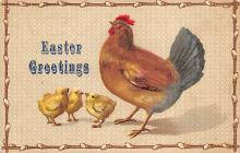 top090713 - Holiday Easter Post Card Old Vintage Antique