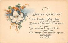 top090717 - Holiday Easter Post Card Old Vintage Antique