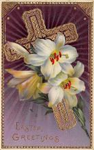 top090729 - Holiday Easter Post Card Old Vintage Antique