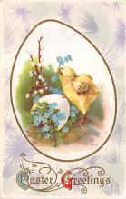 top091007 - Holiday Easter Post Card Old Vintage Antique