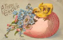 top091017 - Holiday Easter Post Card Old Vintage Antique