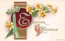 top091021 - Holiday Easter Post Card Old Vintage Antique