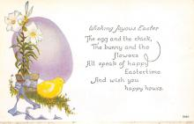 top091023 - Holiday Easter Post Card Old Vintage Antique