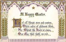 top091071 - Holiday Easter Post Card Old Vintage Antique