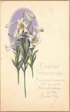 top091111 - Holiday Easter Post Card Old Vintage Antique