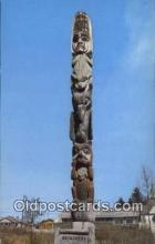 tot001010 - Wrangell, Alaska, USA Kicksetti Totem Pole Postcard Post Card Old Vintage Antique