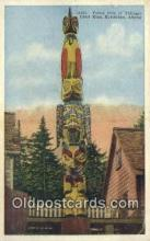 tot001014 - Ketchikan, Alaska, USA Chief Kian, Totem Pole of Thlinget, Postcard Post Card Old Vintage Antique