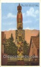tot001019 - Ketchikan, Alaska, USA Totem Pole of Thlinget, Chief Kian,  Postcard Post Card Old Vintage Antique