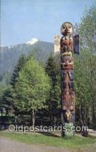 tot001023 - Ketchikan City Park Alaska, USA Raven Flood Totem Pole Postcard Post Card Old Vintage Antique