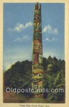 tot001029 - Prince Rupert B.C. Totem Pole Postcard Post Card Old Vintage Antique