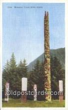 tot001030 - Sitka, Alaska Memorial Totem Pole Postcard Post Card Old Vintage Antique