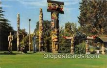 tot001038 - Indian Totem Poles, Thunderbird Park Victoria, BC, Canada Postcard Post Card