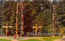 tot001041 - Indian Totem Poles, Stanley Park Vancouver, BC, Canada Postcard Post Card