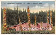 tot001049 - Residences of Haida Indians Ketchikan, Alaska Postcard Post Card