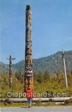tot001057 - Main Totem, Totem Park Alaska Postcard Post Card
