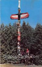 tot001090 - Indian Totem Pole Oklahoma, USA Postcard Post Card
