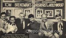 tow001002 - Tom Breneman in Hollywood over Amrican Broadcasting Company, Radio Station Personality, Postcard Postcards