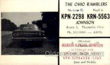 tow001016 - QSL Radio Station,  Postcard Postcards