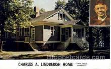 tra001132 - Charles A Lindberge Home Little Falls Minnesota, USA Aviation, Airplane Postcard Postcards