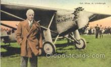 tra001141 - Col. Chas. A. Lindbergh Aviation, Airplane Postcard Postcards