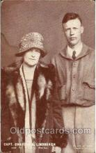 tra001144 - Capt. Lindbergh and his mother non-postcard backing, Aviation, Airplane Postcard Postcards