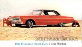 tra002033 - Plymouth Sport Fury 65'  auto postcard