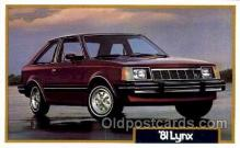 tra002051 - Lynx 81' automotive postcards