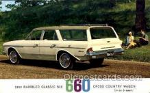 tra002067 - Rambler Classic 63' automotive postcards