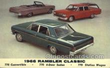 tra002125 - 1966 Rambler Auto, Automotive, Car, Postcard Postcards