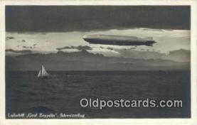 tra004113 - Luftschiff Graf Zeppelin Schweizerflug  Postcard Post Card, Carte Postale, Cartolina Postale, Tarjets Postal,  Old Vintage Antique
