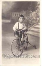 tra005003 - Children, Child, Bicycle Bike Postcard postcards