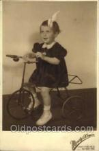 tra005045 - Chidren on Bicycles, tricycles postcard postcards
