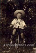 tra005048 - Chidren on Bicycles, tricycles postcard postcards