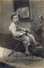 tra005058 - Chidren on Bicycles, tricycles postcard postcards