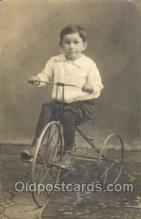 tra005064 - Chidren on Bicycles, tricycles postcard postcards