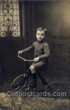 tra005065 - Chidren on Bicycles, tricycles postcard postcards