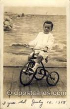 tra005066 - Chidren on Bicycles, tricycles postcard postcards