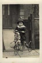 tra005072 - Chidren on Bicycles, tricycles postcard postcards